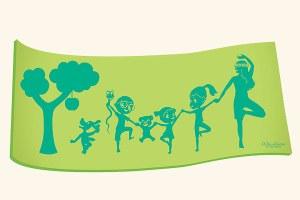 Tapete de yoga para crianças