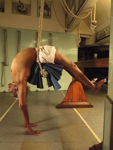 Iyengar praticando